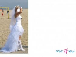 sprzedam suknie slubna Cymbeline model Taylor Long KRÓTKO - DŁUGA