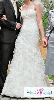 sprzedam suknię ślubną Cymbeline rozm. 38 ecru