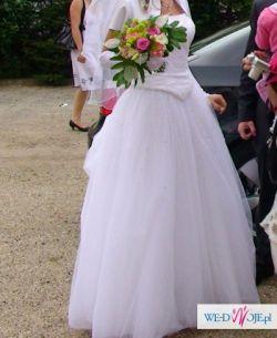 Sprzedam suknię ślubną,dadatki grats.