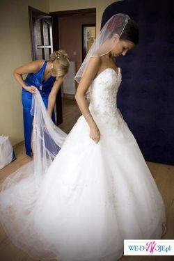Sprzedam suknię ślubną Demetrios 938 rozmiar 34
