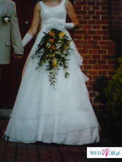 Sprzedam suknię ślubną dla wysokiej