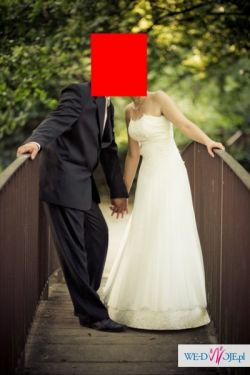 Sprzedam suknię ślubną+dodatki gratis!