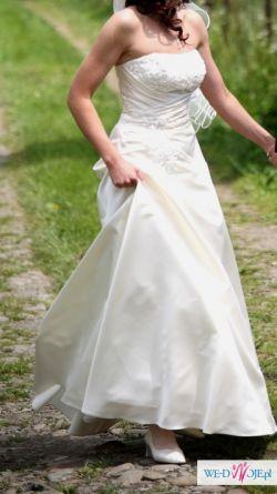 Sprzedam suknię ślubną ecru, model ANDY