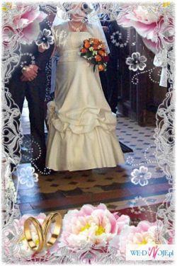 sprzedam suknie ślubną ecru rozm 42 skromna,ładna.WARTO!!!!