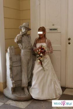 Sprzedam suknię ślubną ecru rozmiar 36/38