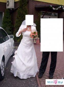Sprzedam suknie ślubną ecrue rozm.38