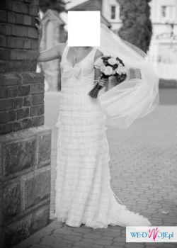 sprzedam suknię ślubną firmy Cymbeline - typ Carelia - rozmiar 36 (z metki 38)
