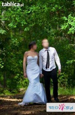 Sprzedam suknie ślubną gładka rybkę