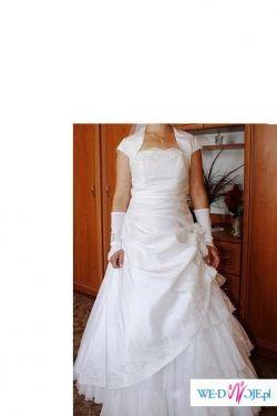 Sprzedam suknie ślubną,jednocześciowa kupiona w salonie nie zniszczona!