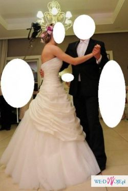 Sprzedam suknię ślubną Justin Alexander 8196 stan idealny S/M