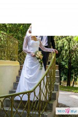 Sprzedam suknię ślubną, kolor biały, rozm. 38
