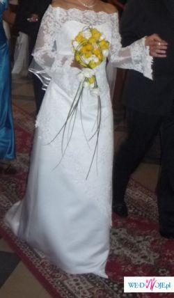 sprzedam suknię ślubną koronkową + gratisy