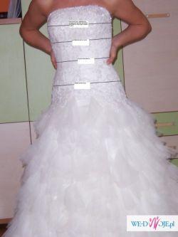 Sprzedam suknie ślubną MADONNA LA SPOSA 34-36 rozmiar,  KOLOR ŚMIETANKOWY
