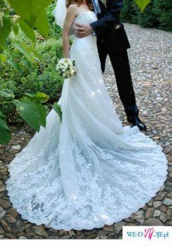 Sprzedam suknie slubna NALON  z bolerkiem z kolekcji Pronovias 2008