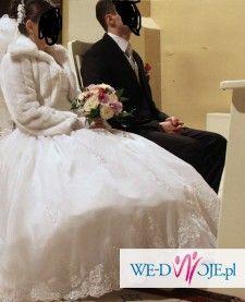 Sprzedam suknie ślubną oraz kamizelkę i musznik