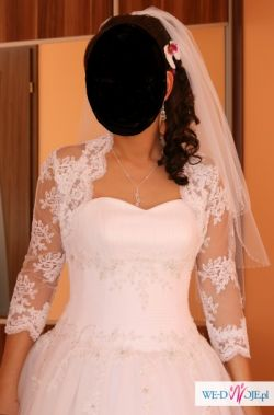 Sprzedam suknie ślubną princessa + welon + bolerko ( lub oddzielnie)