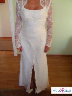 Sprzedam suknie ślubną Pronovias Argos z bolerkiem z hiszpańskiej koronki