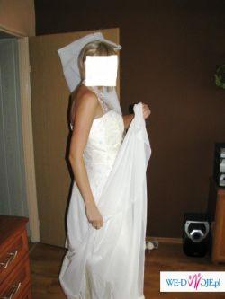 Sprzedam suknię ślubną roz.38/40 175cm ekri 1000zł do NEGOCJACJI