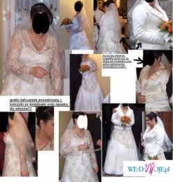 Sprzedam suknię ślubną roz42-44,ecru,gratisy!okazja!