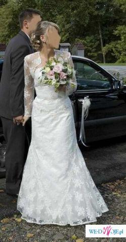 Sprzedam suknię ślubną Rozm. 38 ECRU