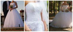 Sprzedam suknię ślubną, rozmiar 34-38, stan idealny