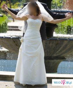 Sprzedam suknię ślubną rozmiar 38/40 wzrost 173-177cm kolor jasny ecru!