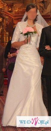 sprzedam suknię slubna rozmiar 38 na 180 cm