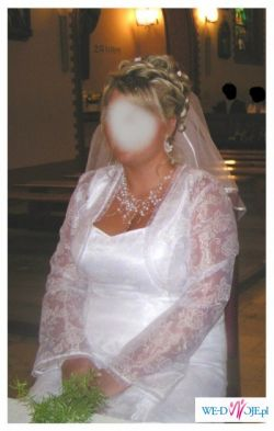 Sprzedam suknię śłubną rozmiar ok.46----> Cena 600zł (do uzgodnienia)