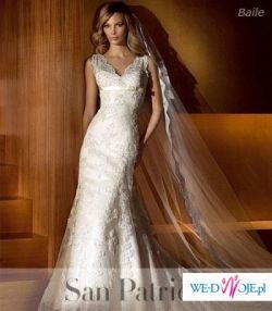 Sprzedam suknię ślubną SAN PATRICK-BAILA roz.36/38 z długim welonem