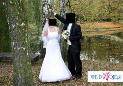 Sprzedam suknię ślubną śliczną, białą  kupioną w salonie