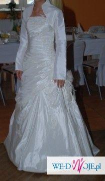 Sprzedam suknię ślubną - śliczna [księżniczka] (roz.34/36)
