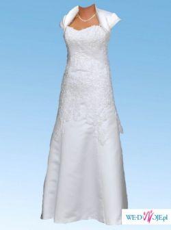 sprzedam suknie ślubną śnieżnobiałą