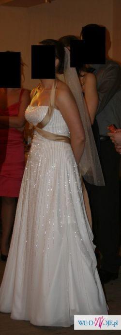 Sprzedam suknię ślubną - świetlny efekt z koralików