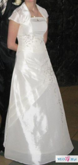 Sprzedam suknie ślubną tanio+gratis dodatki