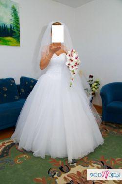 sprzedam suknię ślubną, typ księżniczki