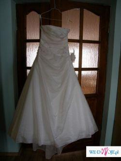sprzedam suknię ślubną w kolorze Ecru - raz używana - stan bdb