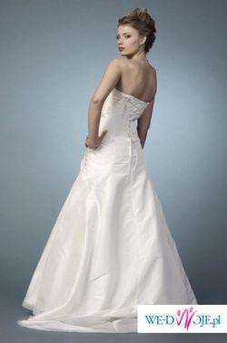 Sprzedam suknię ślubną w kolorze ecru, rozmiar 36/38