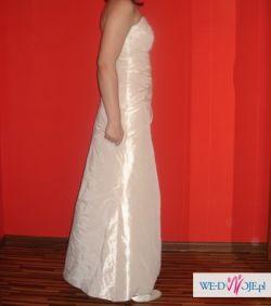 Sprzedam suknię ślubną w kolorze Ecru (welon gratis)