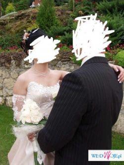 Sprzedam suknię ślubną w kolorze toffi...