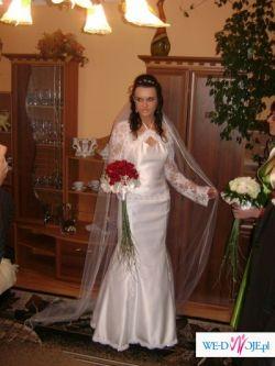 Sprzedam suknię ślubną w kształcie rybki ,idealnie dopasowana.