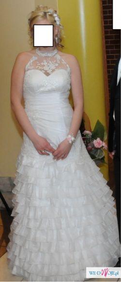 Sprzedam suknię ślubną + welon! Salma