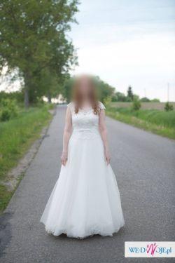 Sprzedam suknię ślubną White One Jailyn kolor ivory r.42 dł.174+8cm