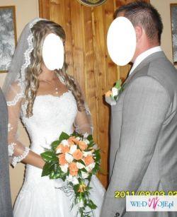 Sprzedam suknie ślubną, wlon i bolerko
