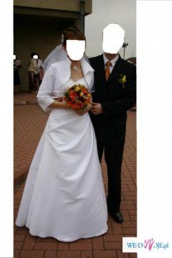 Sprzedam suknię ślubną wraz z bolerkiem i welonem