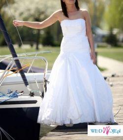 Sprzedam suknię ślubną wraz z bolerkim haftowanym