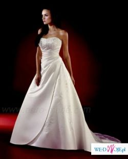 Sprzedam suknię ślubną z długim trenem