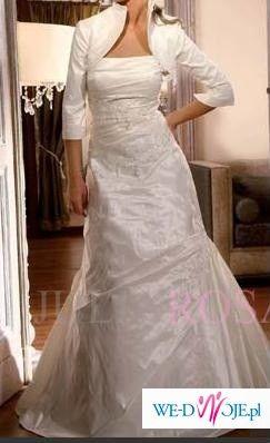 Sprzedam suknię śłubna z dwoma bolerkami na zmianę. Model Juliarosa model 77.