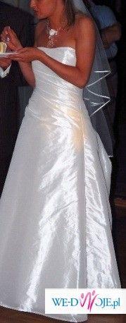 sprzedam suknię ślubną z kolekcji 2007 Margarett, model raffo z szalem