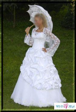 Sprzedam suknię ślubną z koronkowym bolerkiem
