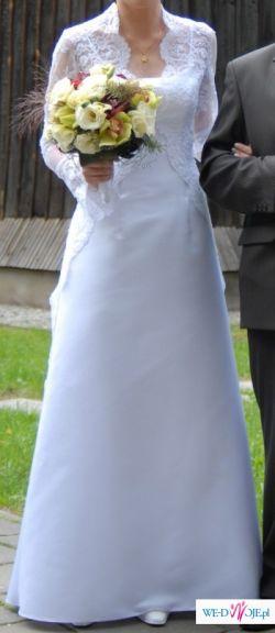 Sprzedam suknię ślubną z płaszczykiem z salonu Nabla